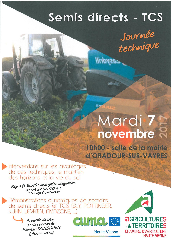 Journ e technique semis direct tcs bienvenue sur notre site - Chambre d agriculture haute vienne ...